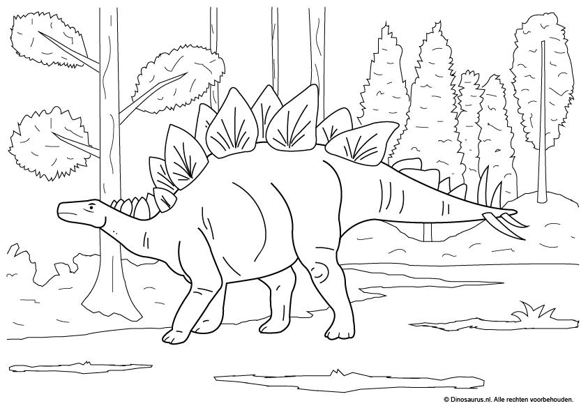Gratis Kleurplaten Dinosaurus.Kleurplaat Dinosaurus