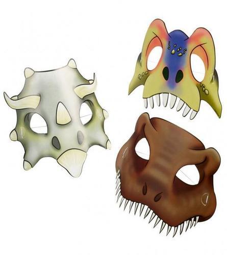 Kleurplaten Dino Masker.Dinosaurus Masker Knutselen Brekelmansadviesgroep