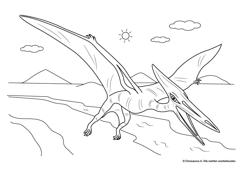 Gratis Kleurplaten Dinosaurus.Dinosaurus Kleurplaat